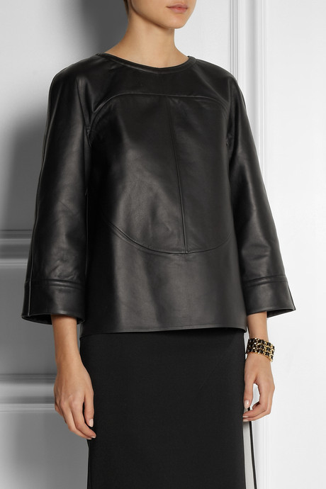Fendi Structured leather top
