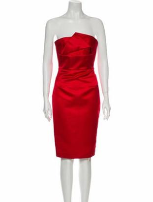 Roland Mouret Strapless Mini Dress Red
