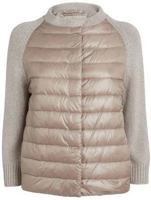 Herno Quilted Jacket with Knit Sleeves