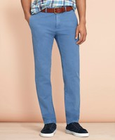 Brooks Brothers Slim-Fit Garment-Dyed Cotton-Linen Chinos