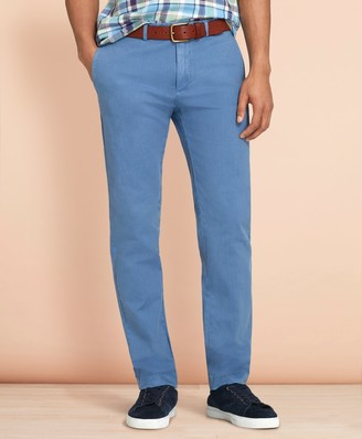 Brooks Brothers Slim Garment-Dyed Cotton-Linen Stretch Chinos
