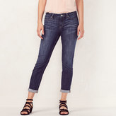 Lauren Conrad Women's Cuffed Skinny Capri Jeans