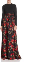 Mac Duggal Rose Print Gown