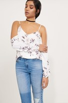 Dynamite Cold Shoulder Blouse