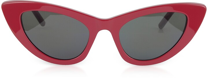 b6c37c83f3669 Saint Laurent Red Women s Sunglasses - ShopStyle