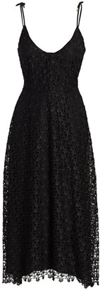 Joie Josana Lace Tie Strap Midi Dress