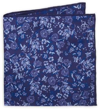 Canali Floral Silk Pocket Square