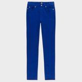 Paul Smith Women's Skinny-Fit Blue Brushed Denim Jeans