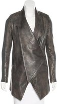 Yigal Azrouel Leather Asymmetrical Jacket