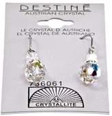 Crystallite Destine Clear Dangle Earrings