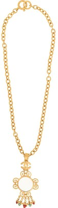 Chanel Pre-Owned 1995 Loupe pendant necklace