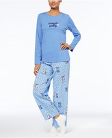 Hue Graphic Top, Printed Pajama Pants & Socks Pajama Set, Created for Macy's
