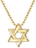 Alex Woo Star of David Beaded Pendant Necklace in 14k Gold