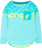 Nike Girls 4-6x Colorblocked High-Low Pocket Tee