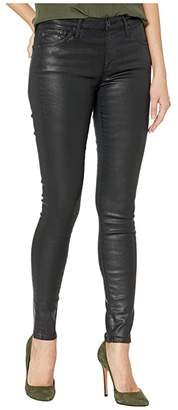 AG Adriano Goldschmied The Leggings Ankle (Leatherette Light Super Black) Women's Casual Pants