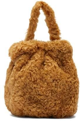 STAUD Grace Shearling Bag - Womens - Beige