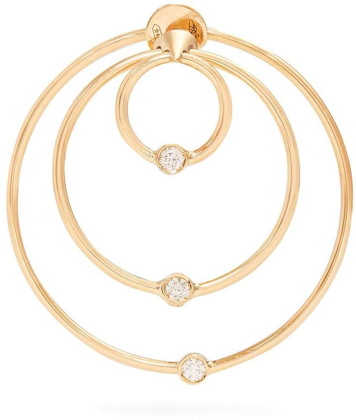 Delfina Delettrez Diamond & yellow-gold hoop single earring