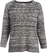 Caribbean Joe Black Melange Boatneck Sweater - Plus