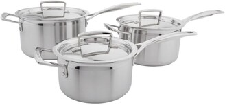 Le Creuset Stainless Steel Saucepans (Set Of 3)