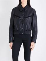 Stella McCartney Pocket-detail cropped faux-leather jacket