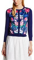 Wolfwhistle Wolf and Whistle Women's Hummingbird And Rose Floral Long Sleeve Cardigan