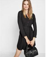 Express tie waist midi shirt dress