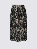 Marks and Spencer Floral Print Pleated Skirt
