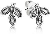 Pandora Stud Earrings - Sterling Silver & Cubic Zirconia Sparkling Leaves