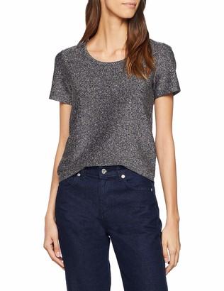 Scotch & Soda Maison Women's Short Sleeve Lurex Tee T-Shirt