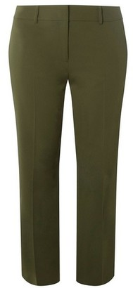 Dorothy Perkins Womens Dp Curve Khaki Ankle Grazer Trousers, Khaki