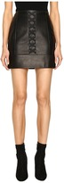 Neil Barrett Laced Nappa Plonge Pencil Skirt