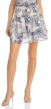 Aqua Toile Print Ruffled Skirt - 100% Exclusive