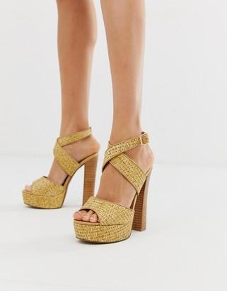 ASOS DESIGN Hutchinson platform block heeled sandals