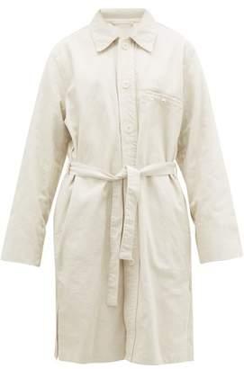 Lemaire Belted Denim Jacket - Womens - Cream