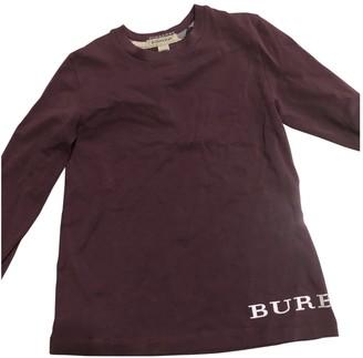 Burberry Purple Cotton Knitwear