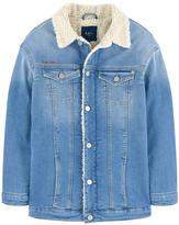 Pepe Jeans Long fleece-lined jean jacket