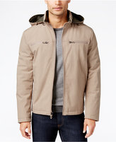Kenneth Cole Soft Shell Bomber Jacket with Removable Hood