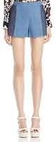 Alice + Olivia Madison Contrast Chambray Shorts
