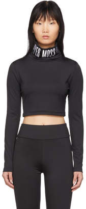 Pyer Moss Reebok By Reebok by Black Collection 3 Logo Cropped Turtleneck