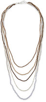Nakamol Five-Strand Long Pearl Necklace, Silver