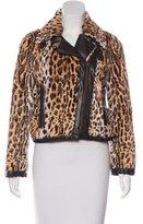 RED Valentino Fur Biker Jacket