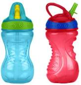 Nuby 2 Count Flip and Tip Hard Straw Cup, 10 Ounce