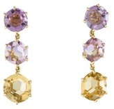 Ippolita 18K Amethyst & Citrine Triple Drop Earrings