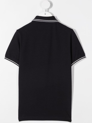 Stone Island Junior Jersey Polo With Logo Patch