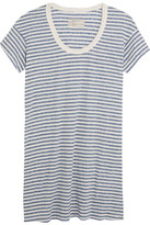 Current/Elliott The Slouchy Striped Jersey Mini Dress - Sky blue
