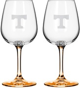 NCAA Tennessee Volunteers 2-pc. Wine Glass Set