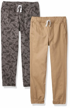 Amazon Essentials Big 2-Pack Boys Woven Pull on Jogger Pant