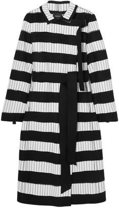 Akris Embroidered Wool-blend Felt Coat