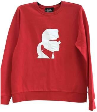 Karl Lagerfeld Paris Red Cotton Knitwear