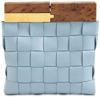 Bottega Veneta Snap Clutch Leather Bag